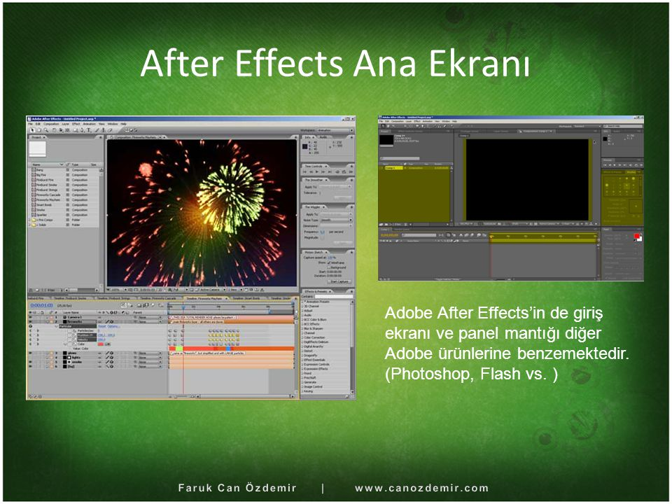 After Effects Ana Ekranı