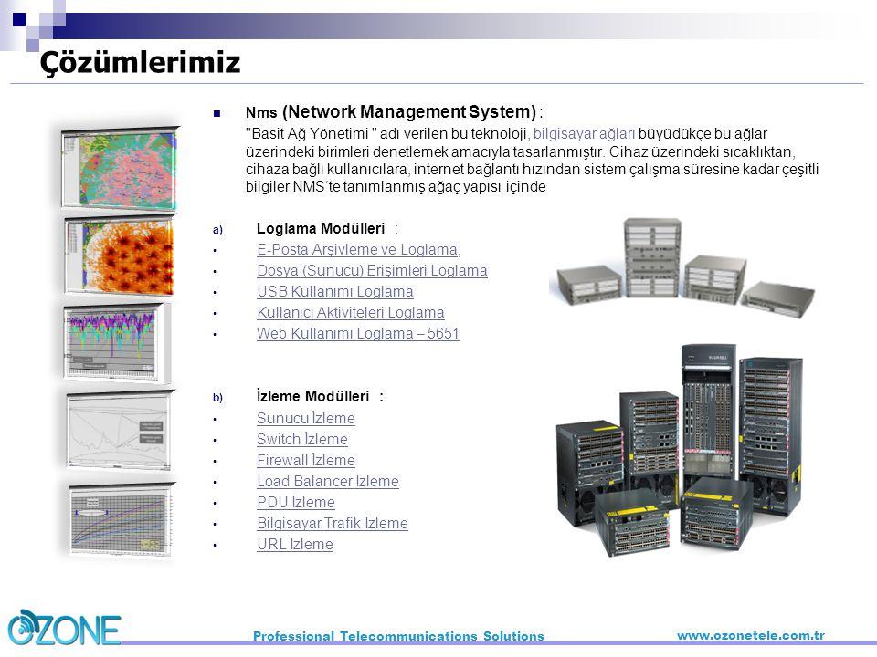 Çözümlerimiz Nms (Network Management System) :