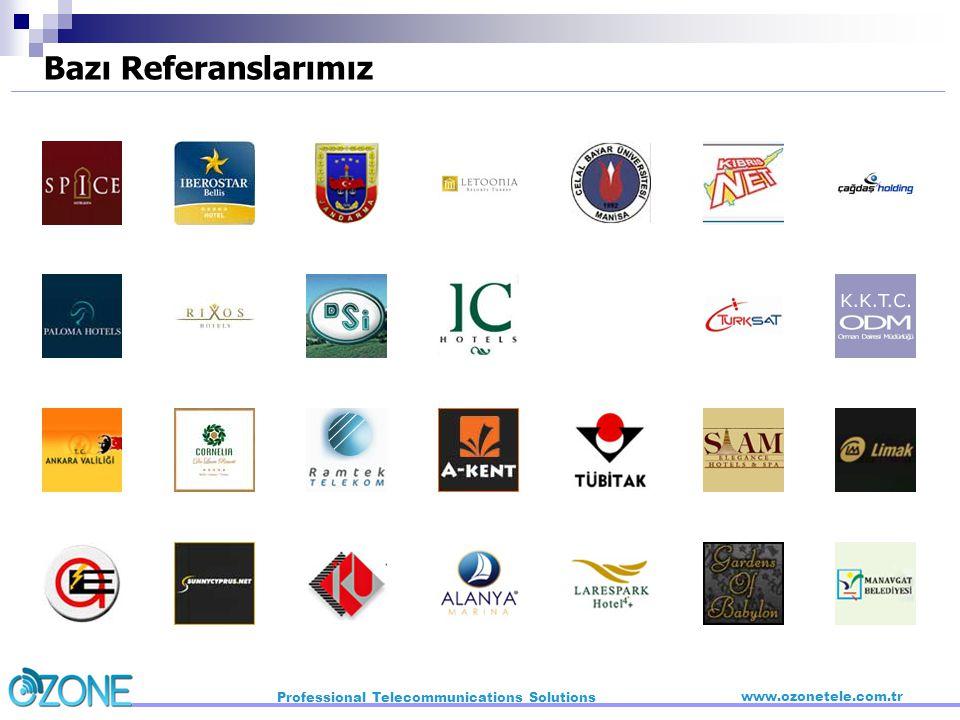 Bazı Referanslarımız Professional Telecommunications Solutions