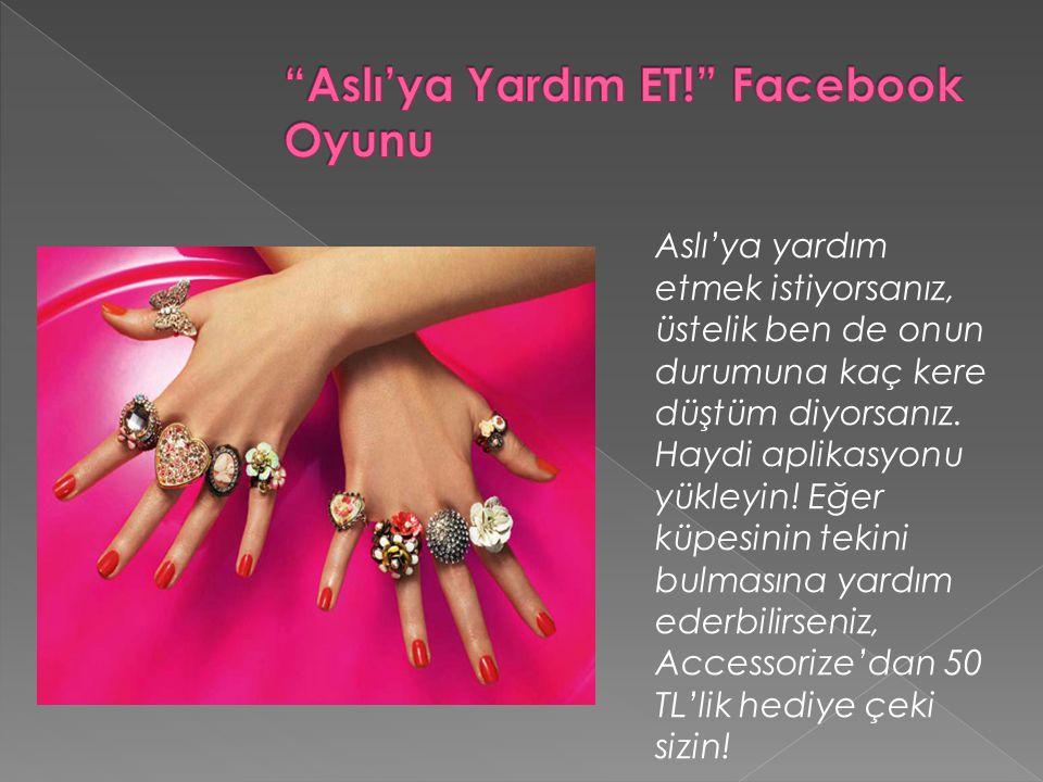 Aslı'ya Yardım ET! Facebook Oyunu