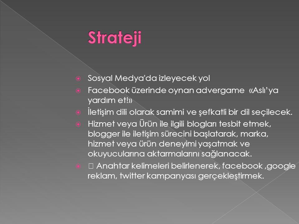 Strateji Sosyal Medya da izleyecek yol