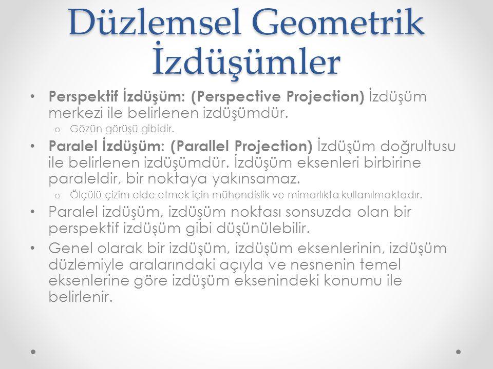 Düzlemsel Geometrik İzdüşümler