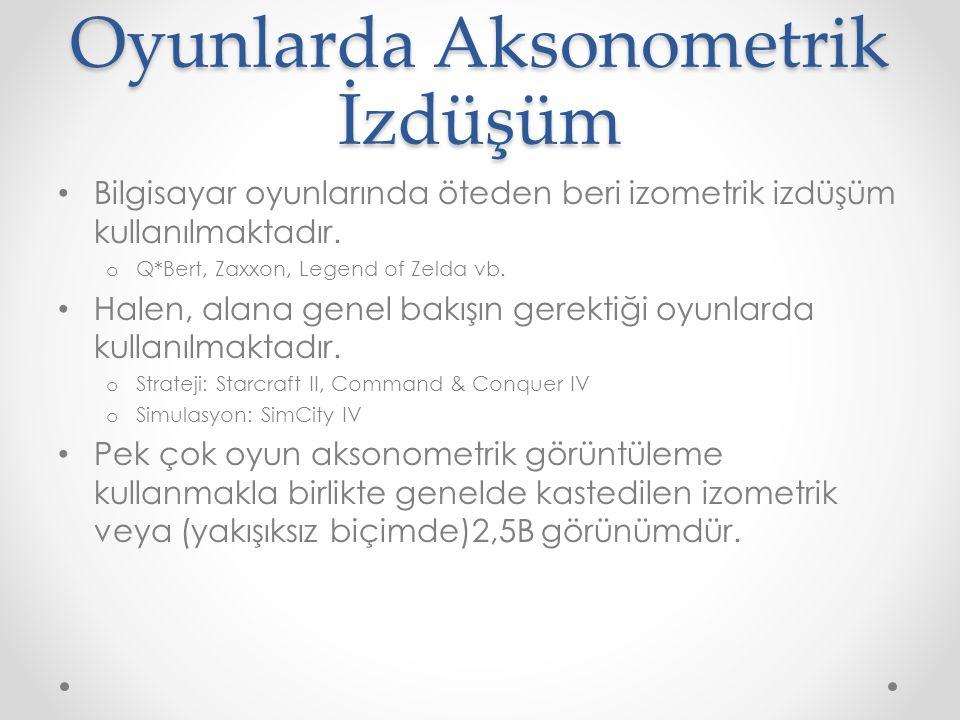 Oyunlarda Aksonometrik İzdüşüm