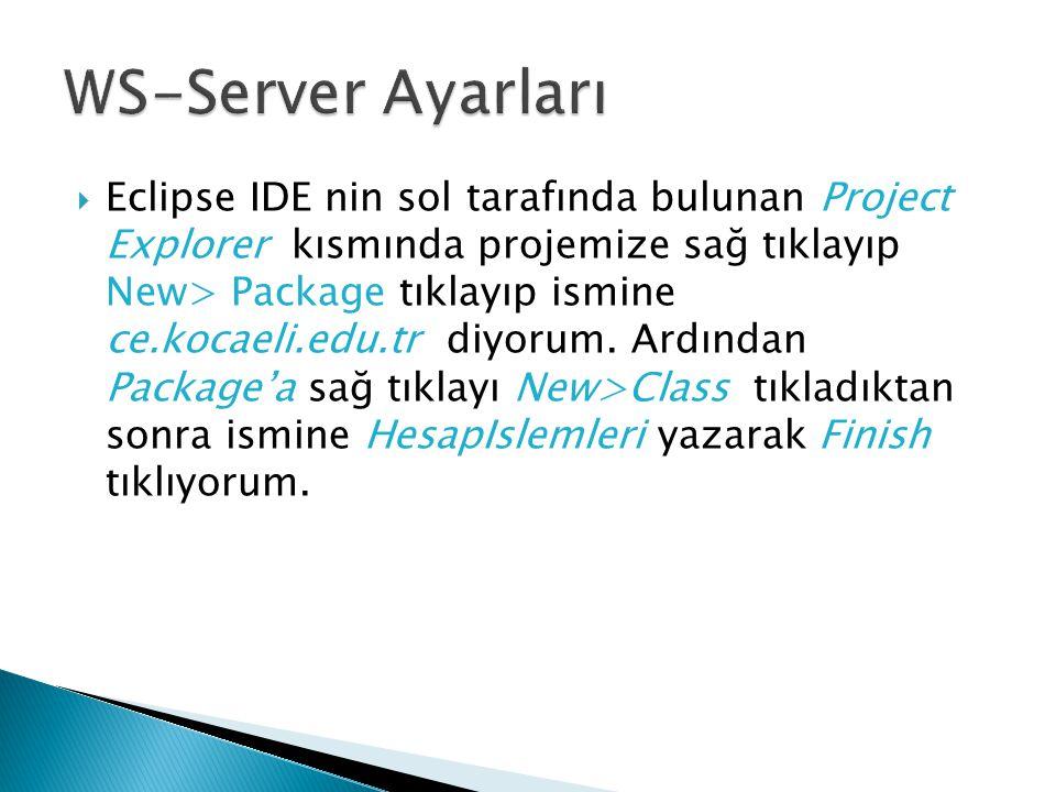 WS-Server Ayarları