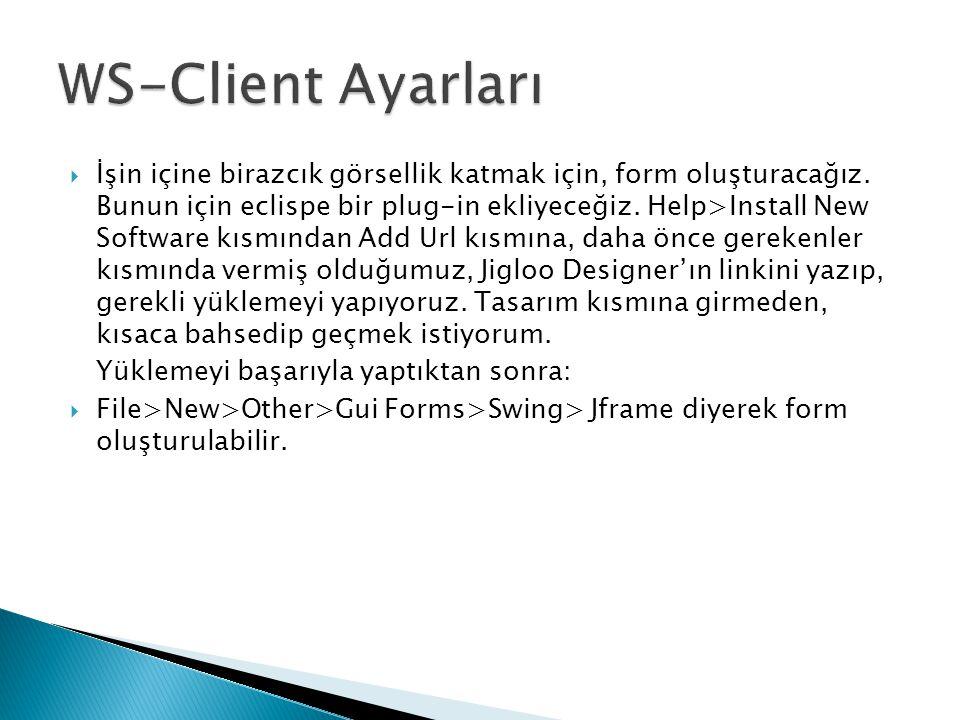 WS-Client Ayarları