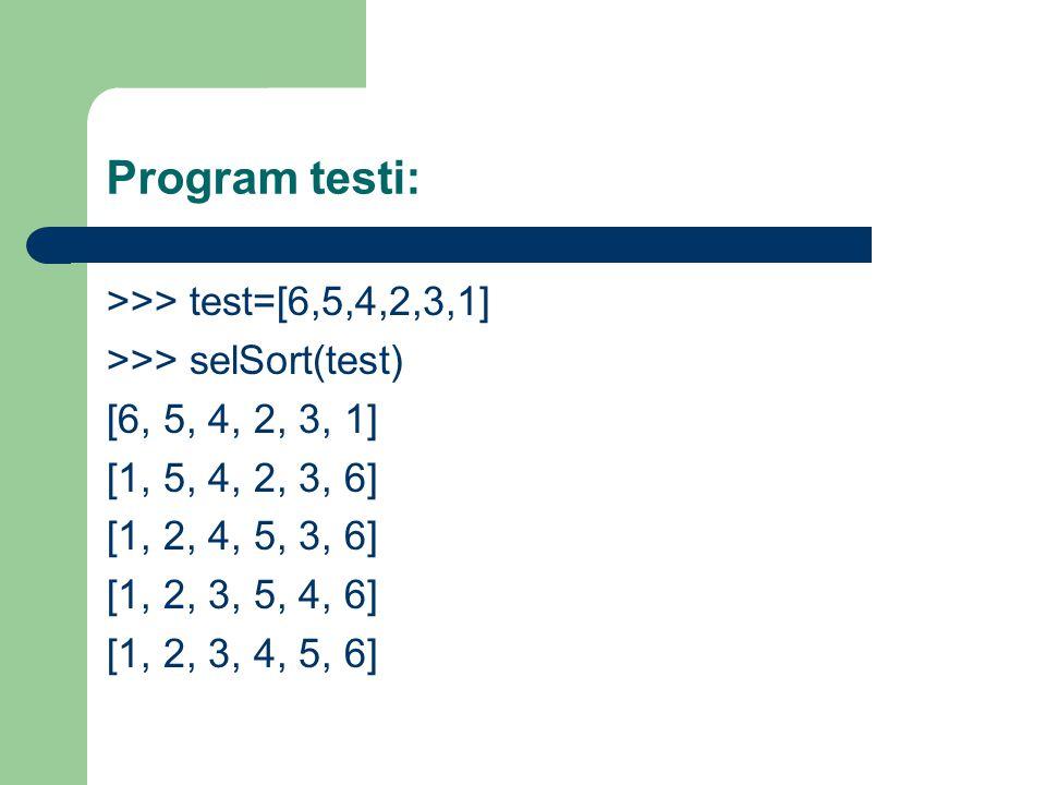 Program testi: