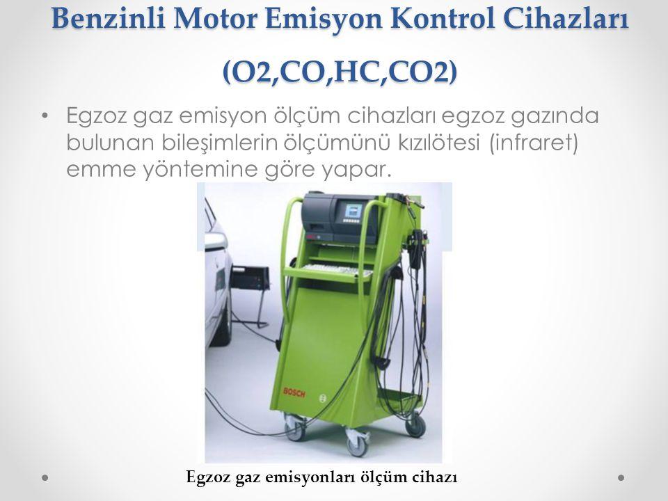 Benzinli Motor Emisyon Kontrol Cihazları (O2,CO,HC,CO2)