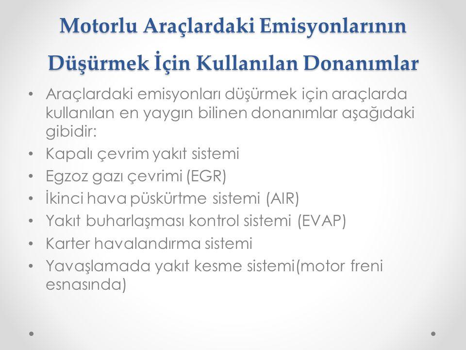 Motorlu Araçlardaki Emisyonlarının Düşürmek İçin Kullanılan Donanımlar