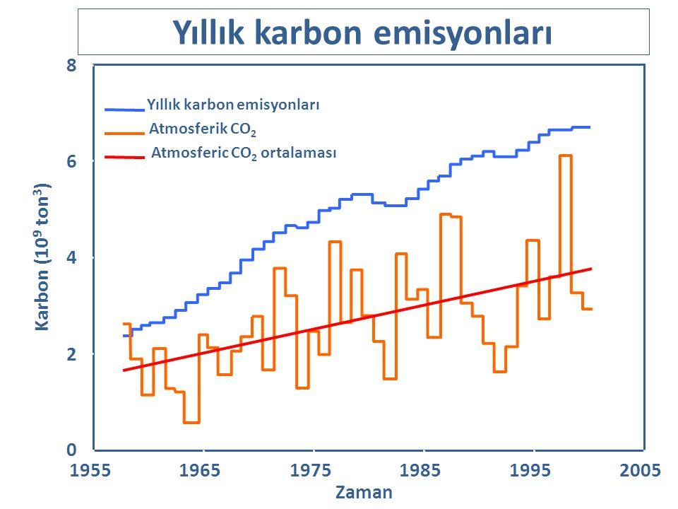 Yıllık karbon emisyonları