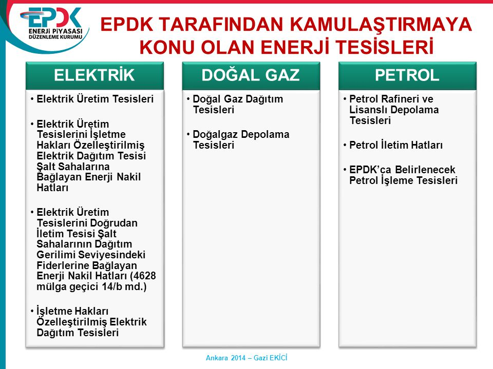 EPDK TARAFINDAN KAMULAŞTIRMAYA KONU OLAN ENERJİ TESİSLERİ