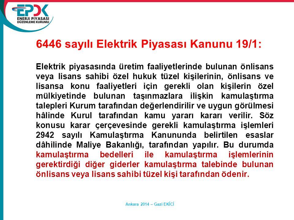 6446 sayılı Elektrik Piyasası Kanunu 19/1: