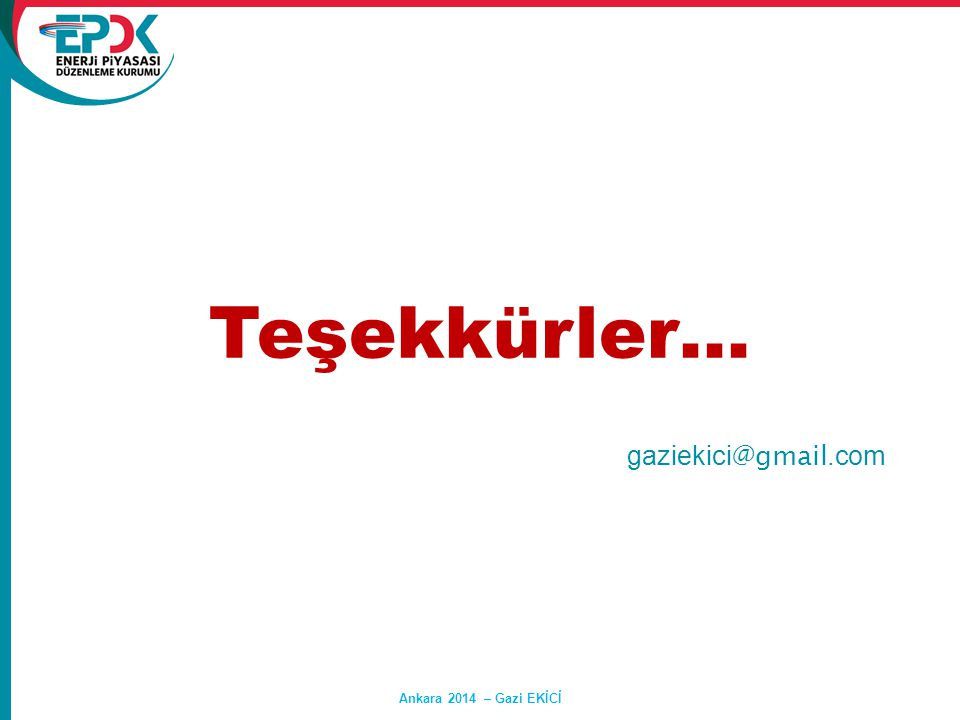 Teşekkürler… gaziekici@gmail.com Ankara 2014 – Gazi EKİCİ Hasan SAY