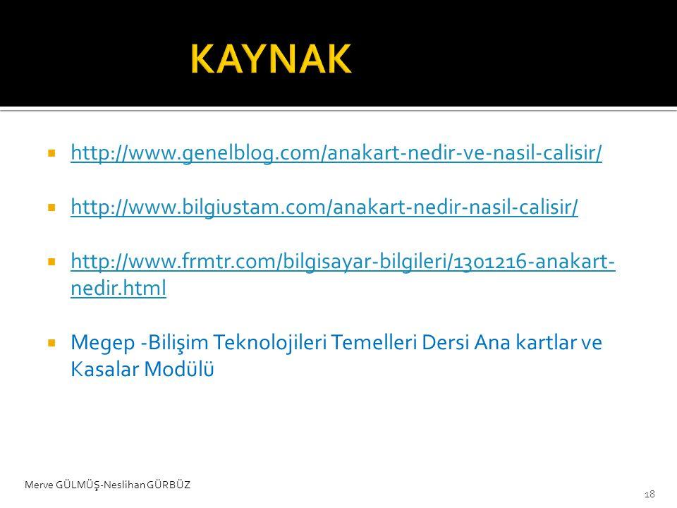 KAYNAK http://www.genelblog.com/anakart-nedir-ve-nasil-calisir/