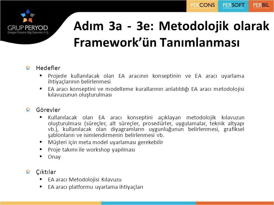 Adım 3a - 3e: Metodolojik olarak Framework'ün Tanımlanması