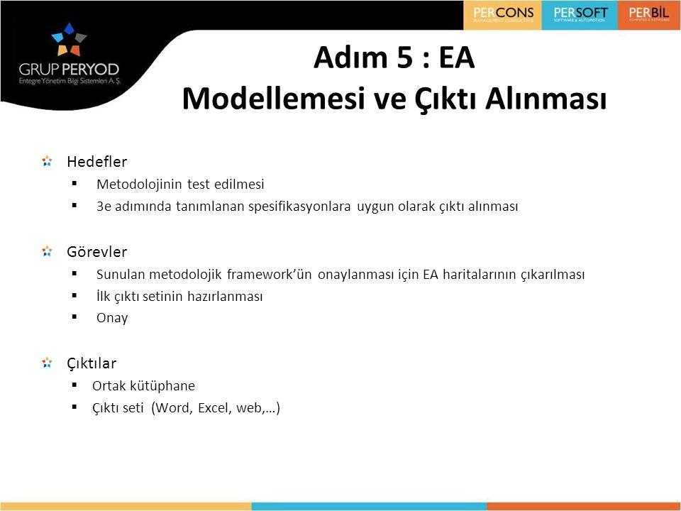 Adım 5 : EA Modellemesi ve Çıktı Alınması