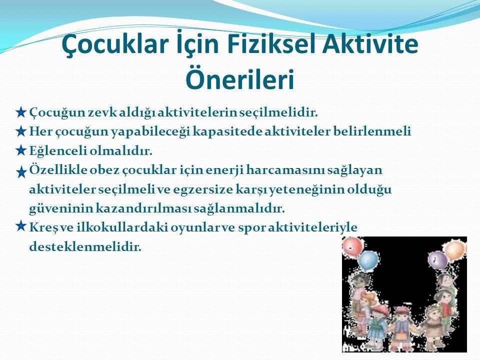 Çocuklar İçin Fiziksel Aktivite Önerileri