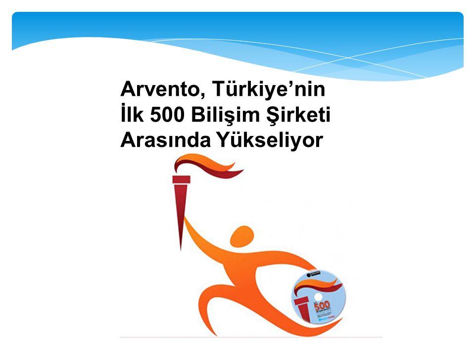 Arvento, Türkiye'nin İlk 500 Bilişim Şirketi Arasında Yükseliyor