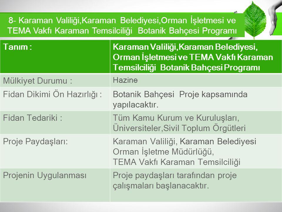 Fidan Dikimi Ön Hazırlığı :