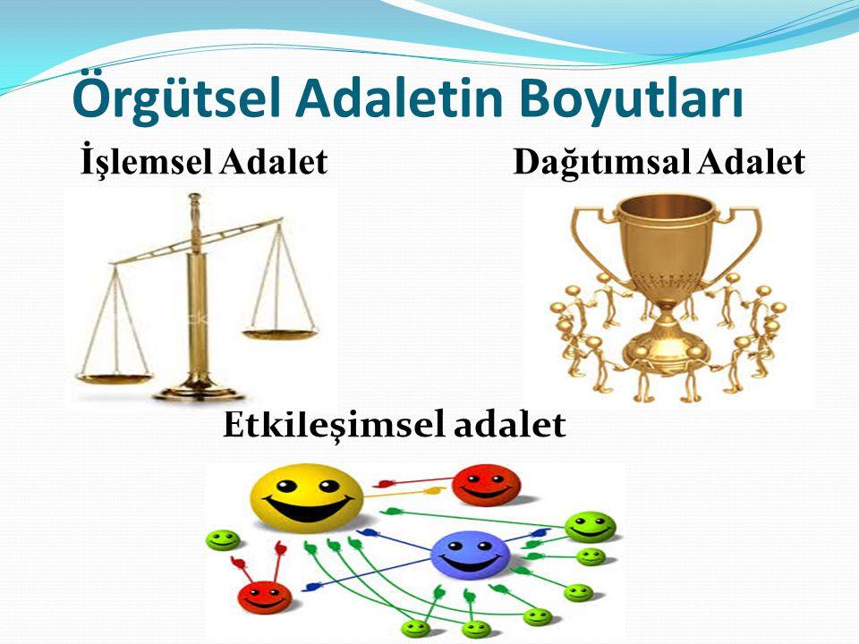 Örgütsel Adaletin Boyutları