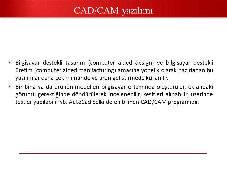CAD/CAM yazılımı