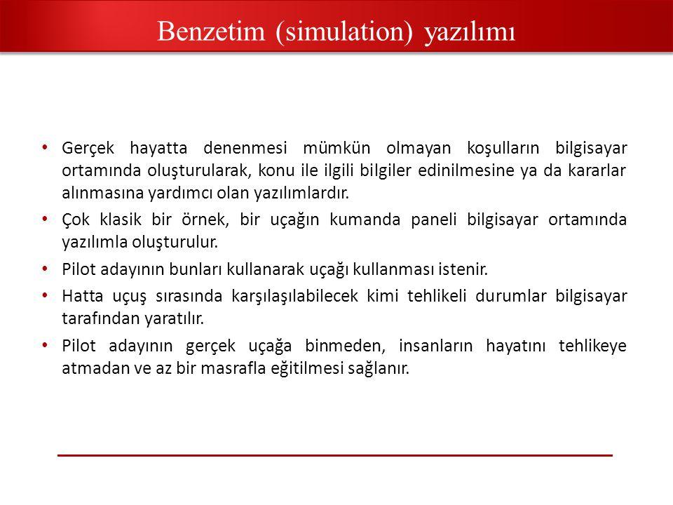 Benzetim (simulation) yazılımı