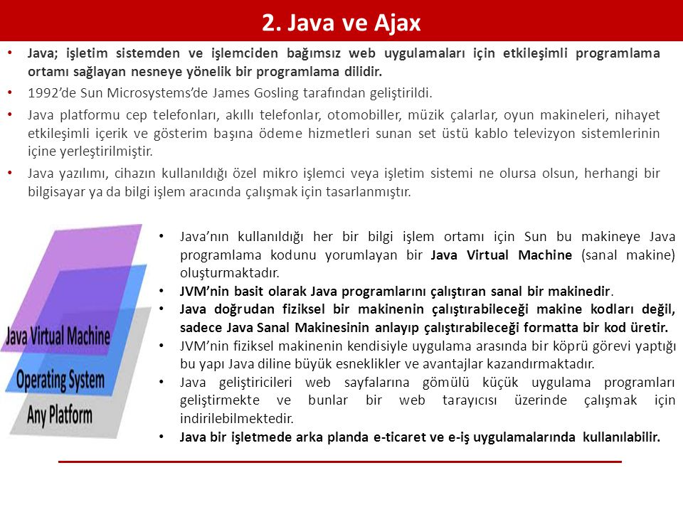 2. Java ve Ajax