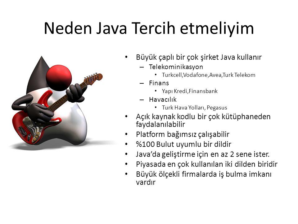 Neden Java Tercih etmeliyim