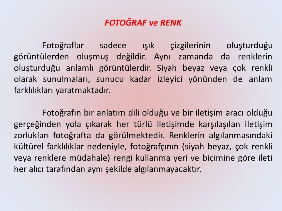 FOTOĞRAF ve RENK