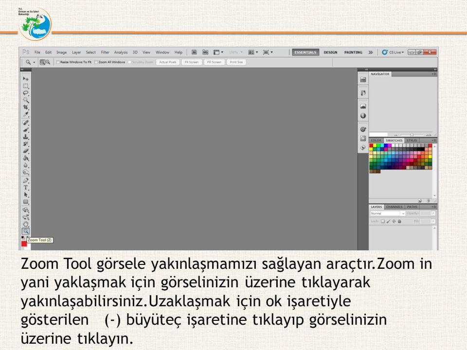 Zoom Tool görsele yakınlaşmamızı sağlayan araçtır