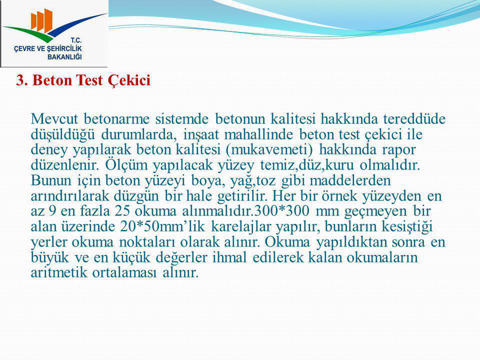 3. Beton Test Çekici