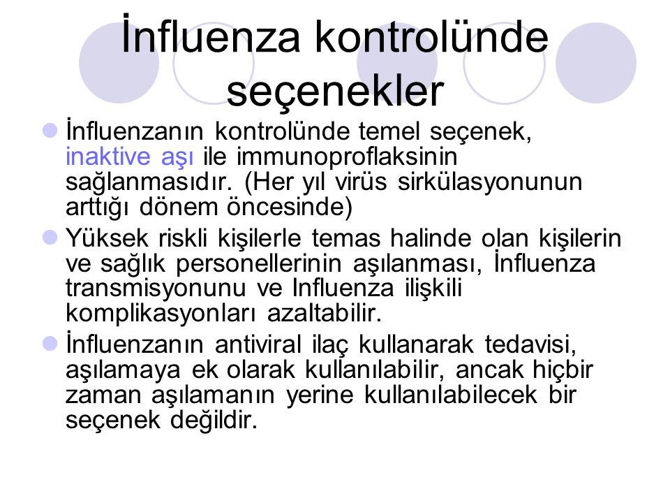 İnfluenza kontrolünde seçenekler