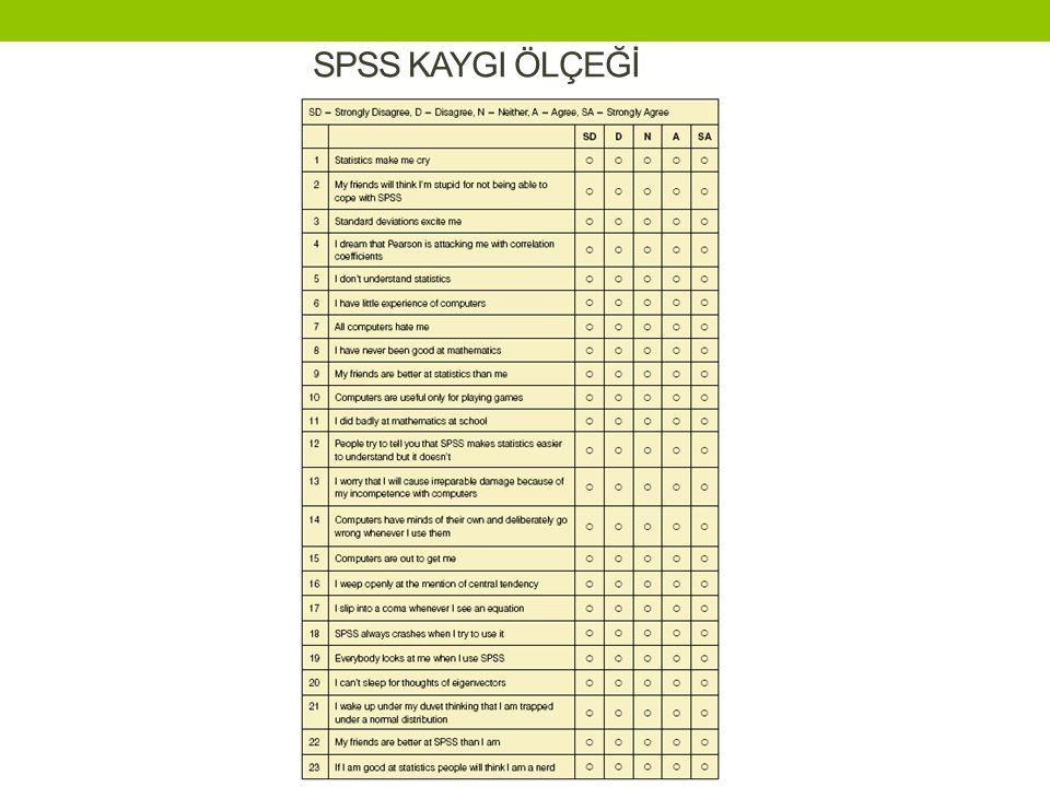 SPSS KAYGI ÖLÇEĞİ
