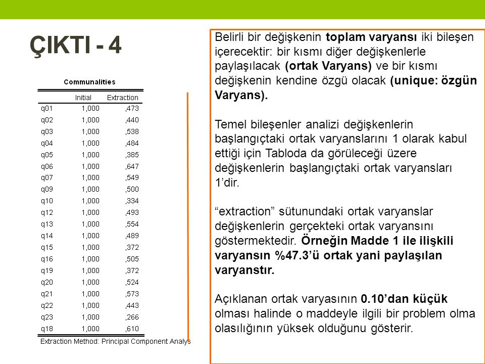 ÇIKTI - 4