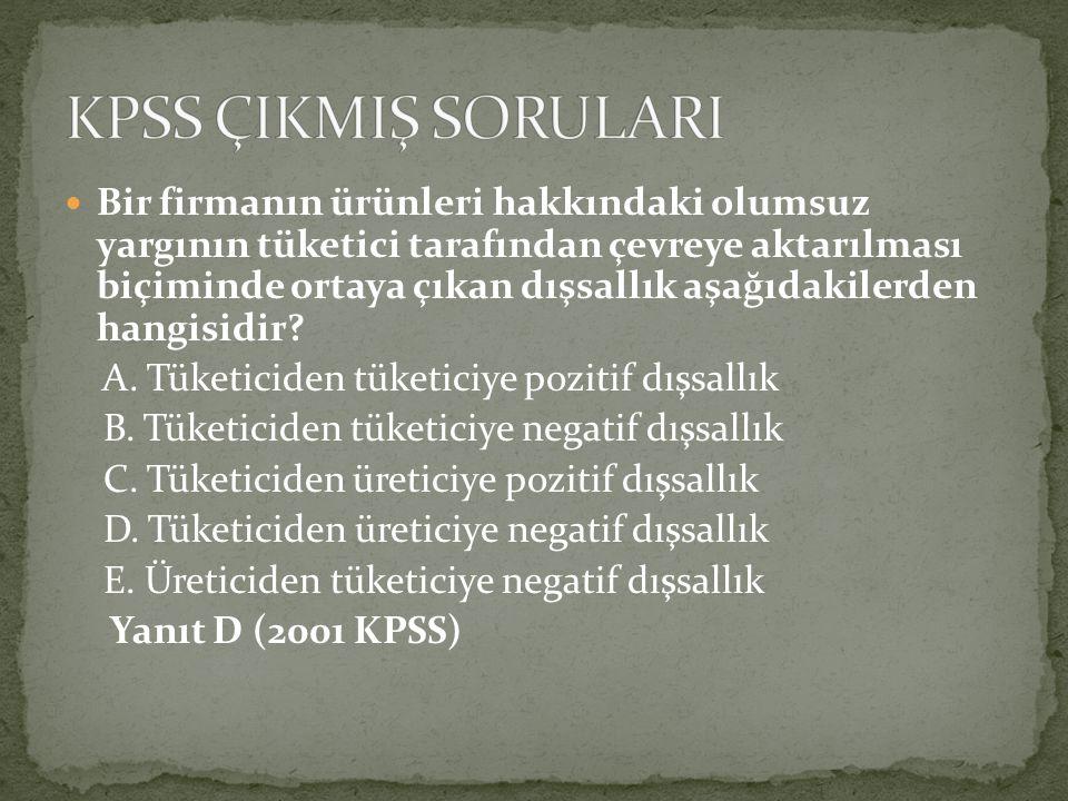 KPSS ÇIKMIŞ SORULARI