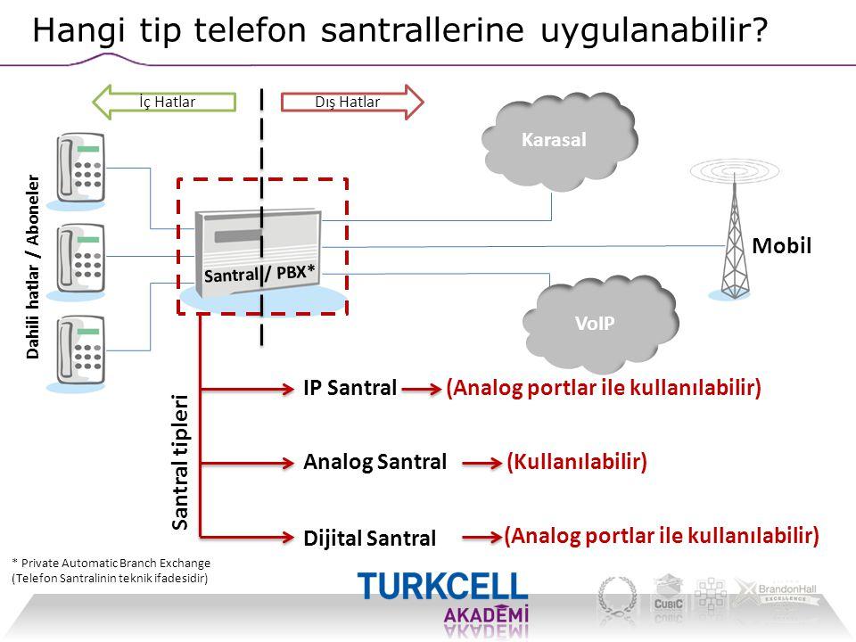 Hangi tip telefon santrallerine uygulanabilir