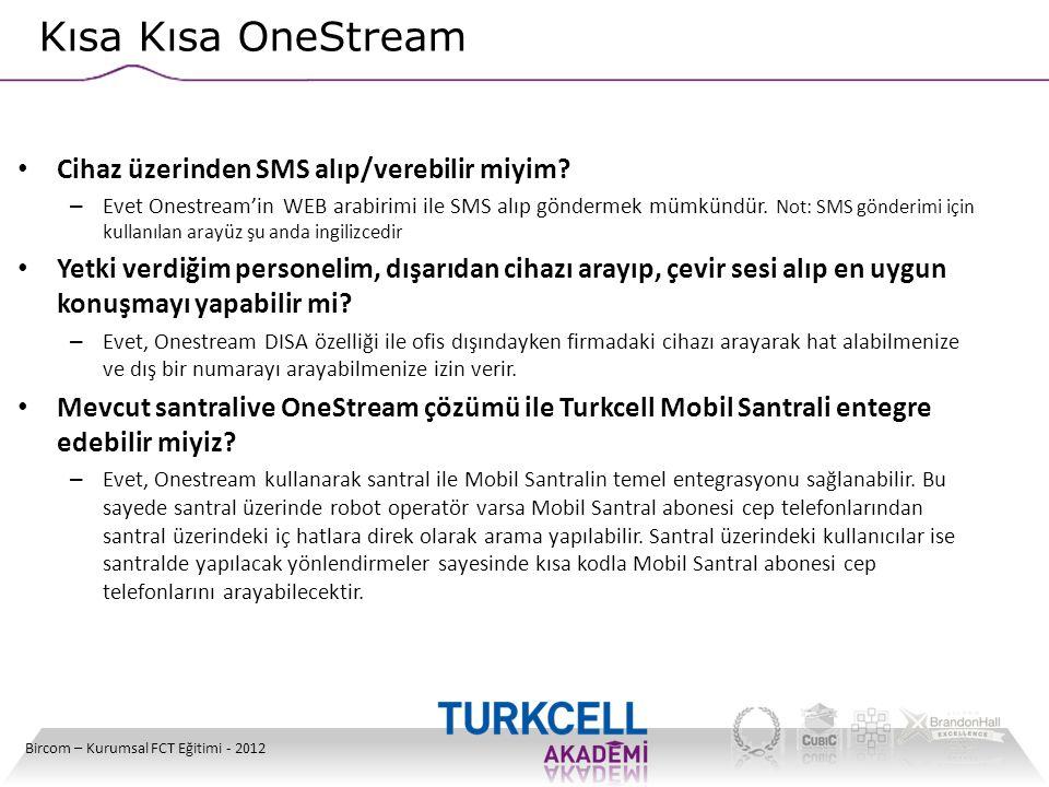 Kısa Kısa OneStream Cihaz üzerinden SMS alıp/verebilir miyim