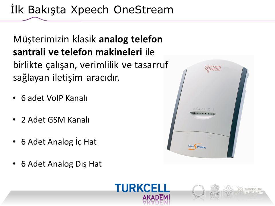 İlk Bakışta Xpeech OneStream