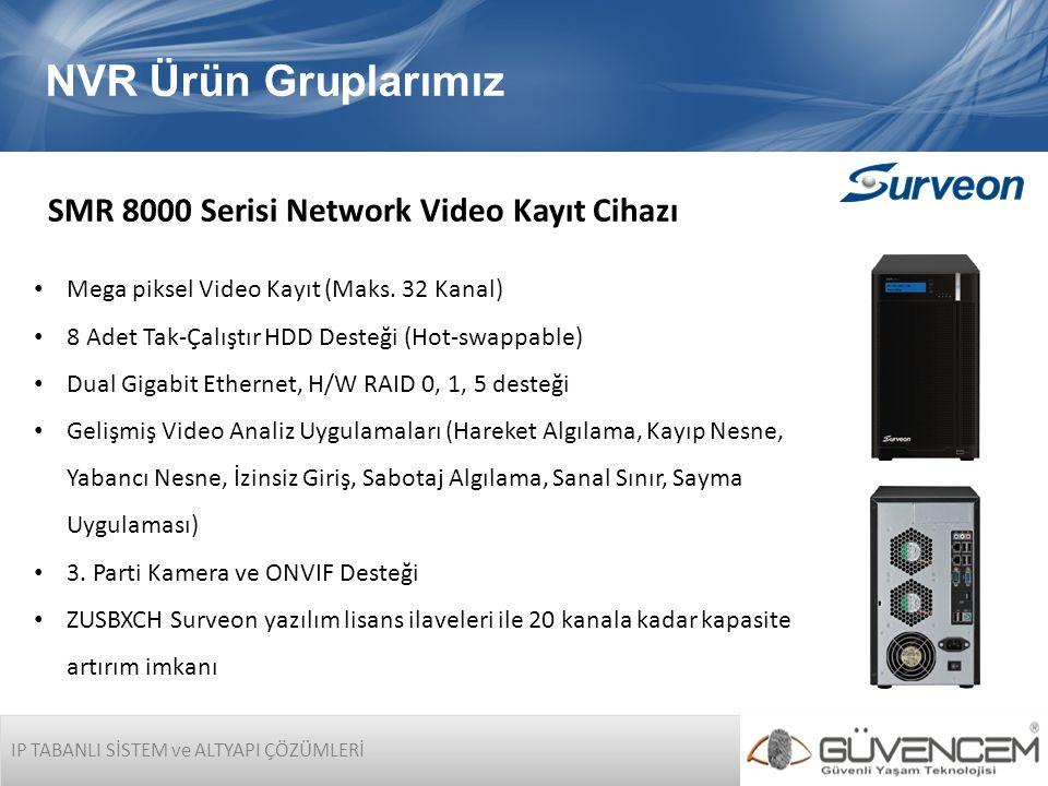 NVR Ürün Gruplarımız SMR 8000 Serisi Network Video Kayıt Cihazı