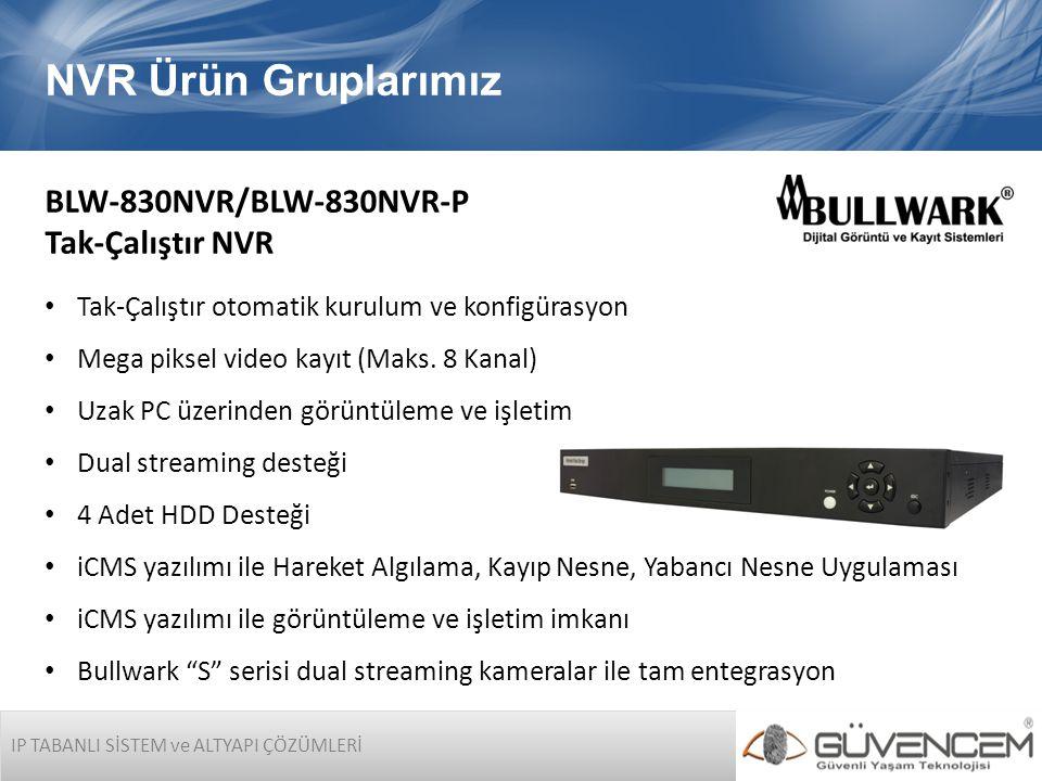 NVR Ürün Gruplarımız BLW-830NVR/BLW-830NVR-P Tak-Çalıştır NVR