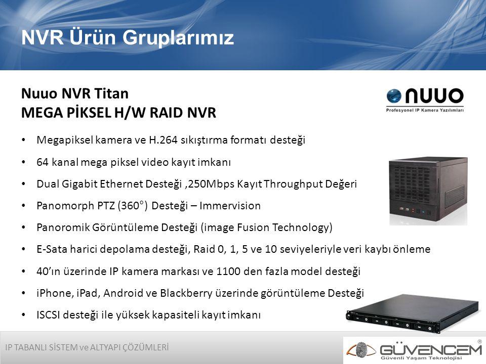 NVR Ürün Gruplarımız Nuuo NVR Titan MEGA PİKSEL H/W RAID NVR