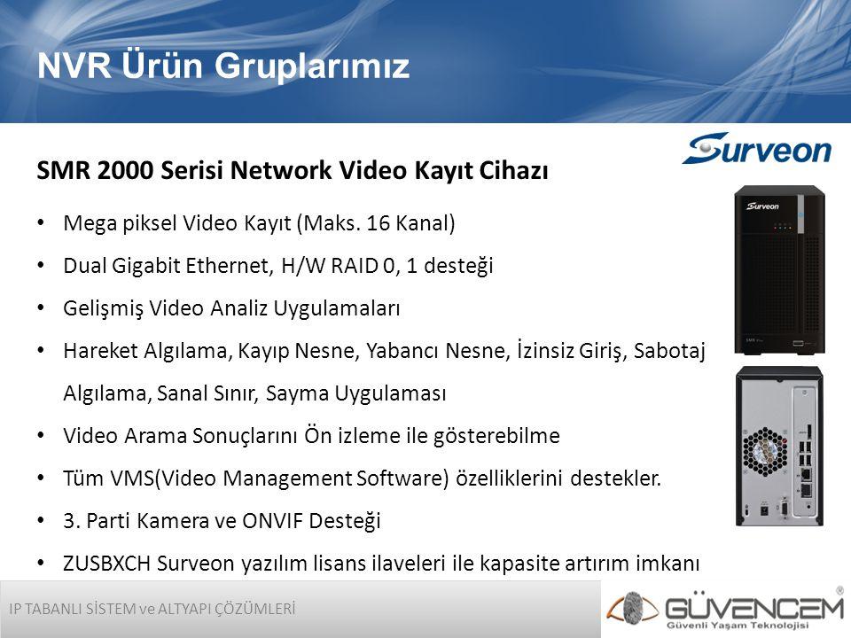 NVR Ürün Gruplarımız SMR 2000 Serisi Network Video Kayıt Cihazı