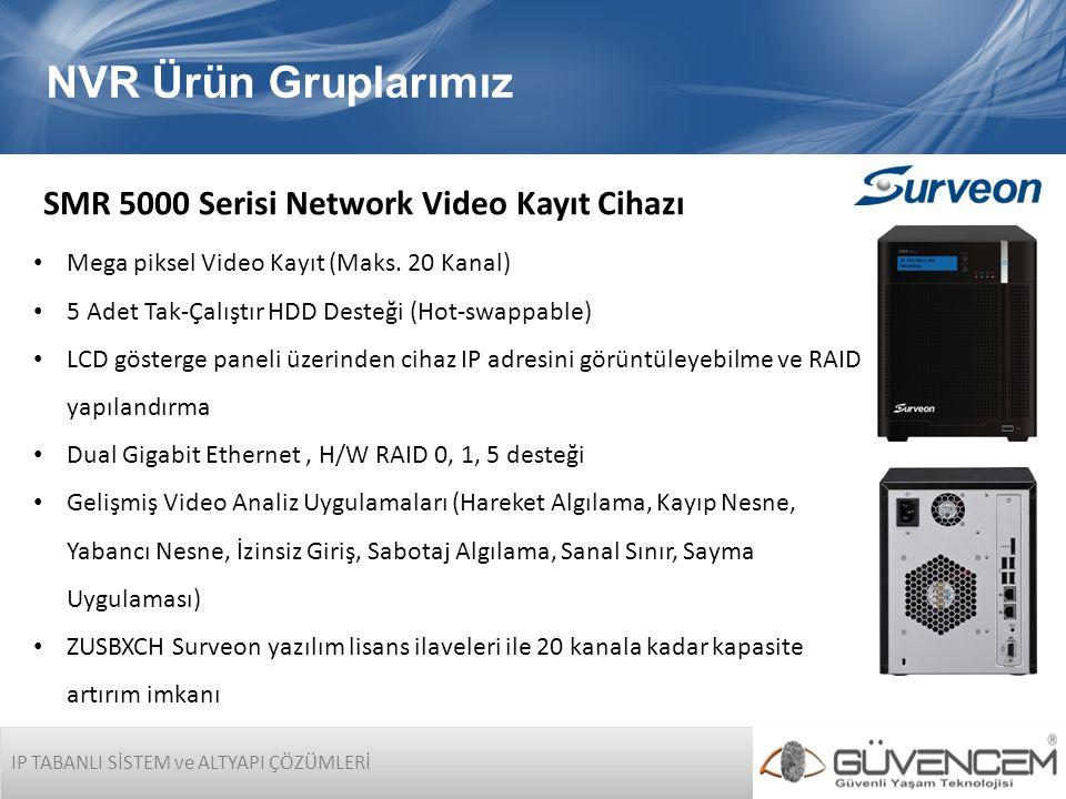 NVR Ürün Gruplarımız SMR 5000 Serisi Network Video Kayıt Cihazı