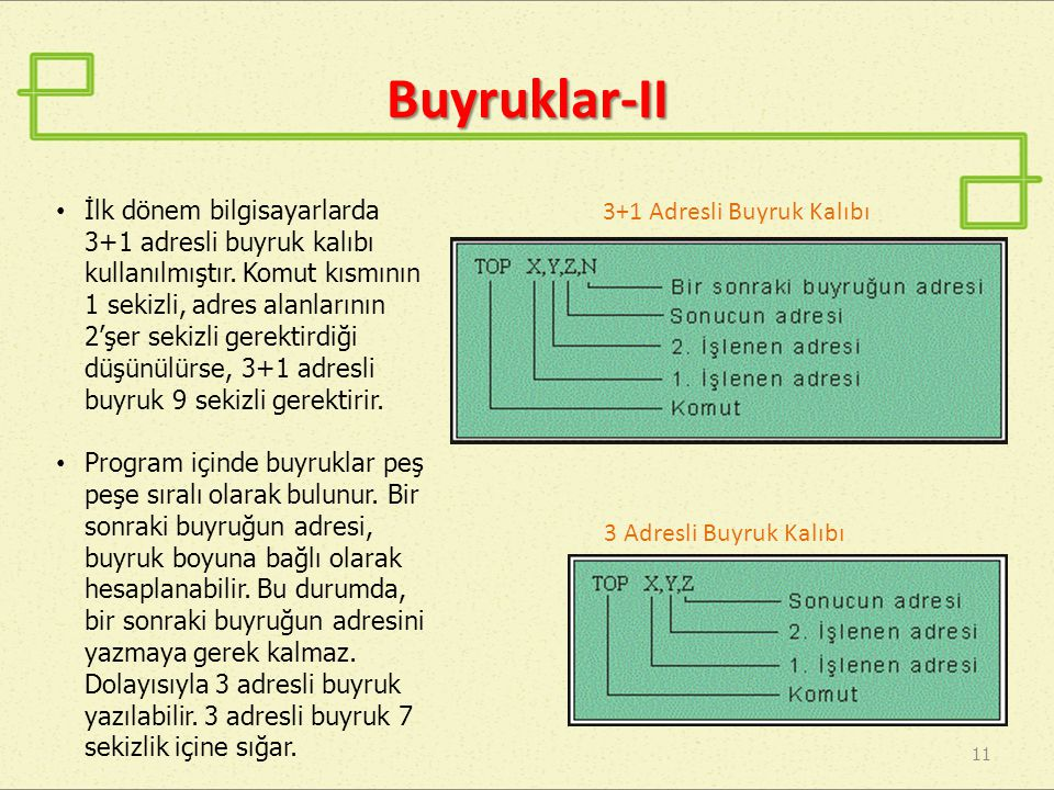 Buyruklar-II