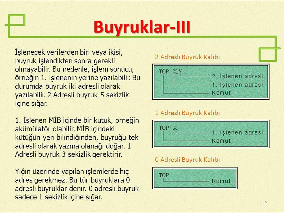 Buyruklar-III