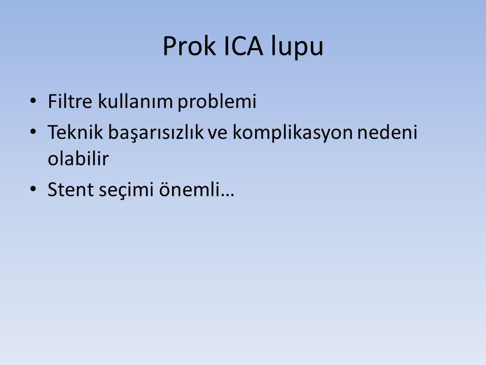 Prok ICA lupu Filtre kullanım problemi