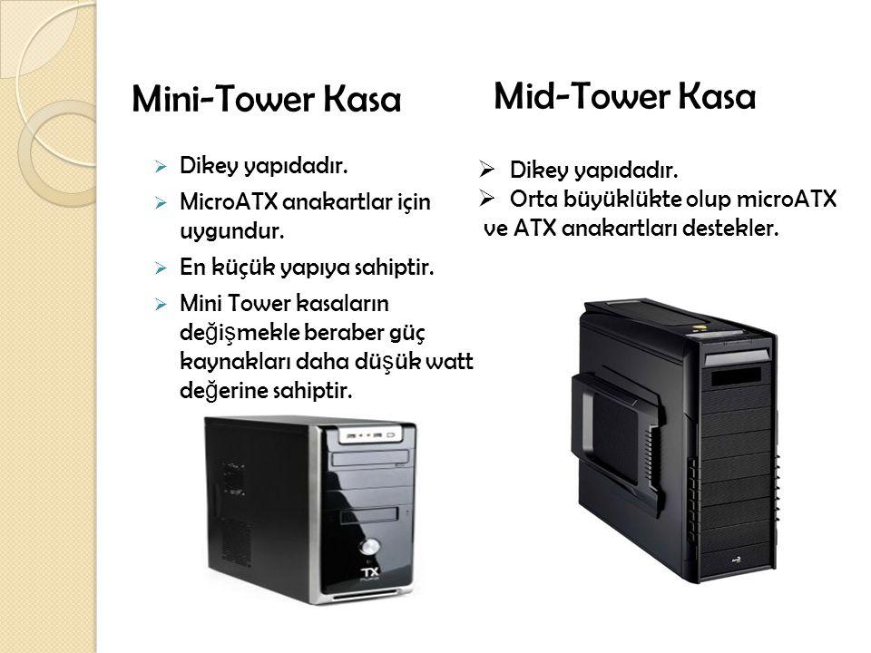 Mini-Tower Kasa Mid-Tower Kasa Dikey yapıdadır. Dikey yapıdadır.