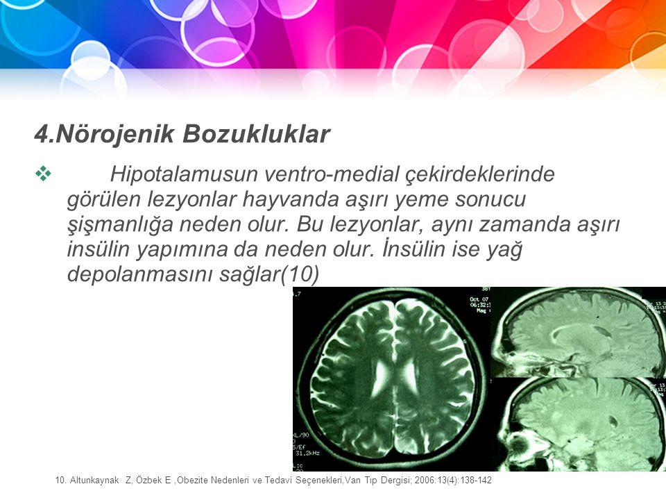 4.Nörojenik Bozukluklar