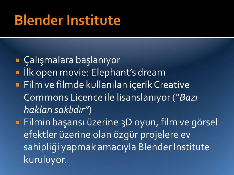 Blender Institute Çalışmalara başlanıyor