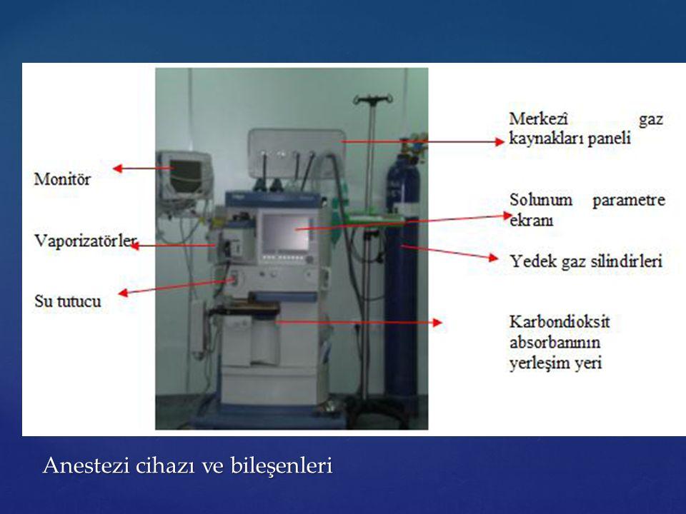 Anestezi cihazı ve bileşenleri