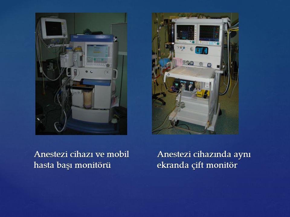 Anestezi cihazı ve mobil hasta başı monitörü